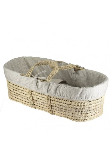 Moses Bed Liner Doble Check/Stone Camomile London