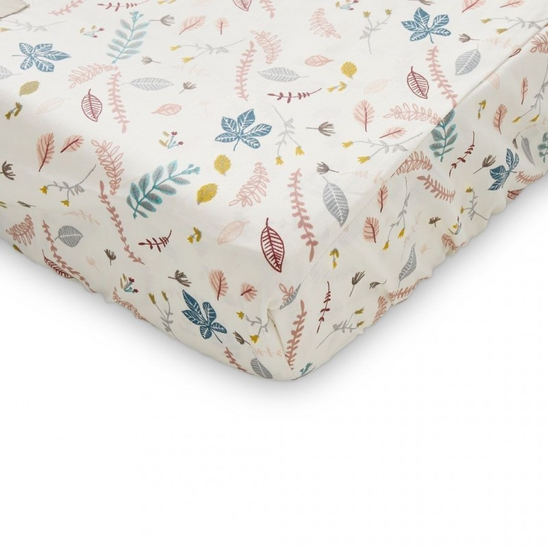Changing Pad Fitted cover Pressed Leaves Rose Cam Cam Copenhagen