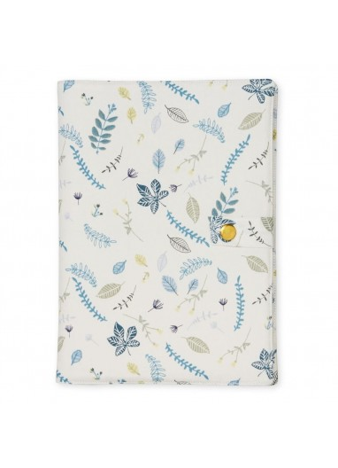 Changing Pad Fitted cover Pressed Leaves Blue Cam Cam Copenhagen