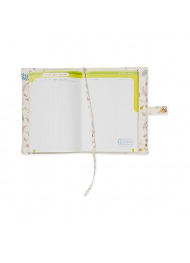 Funda Carnet de Salud Pressed Leaves Rose de Cam Cam Copenhagen