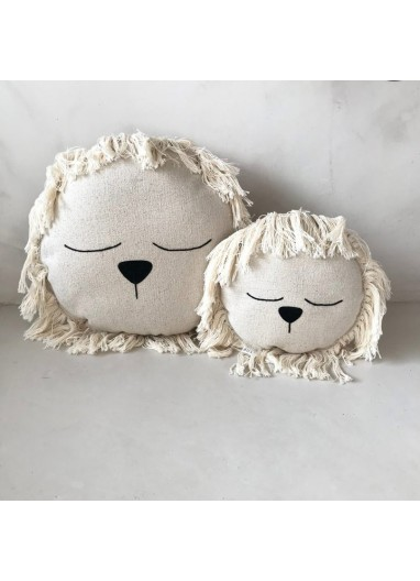 Fringed Lion Cushion Small