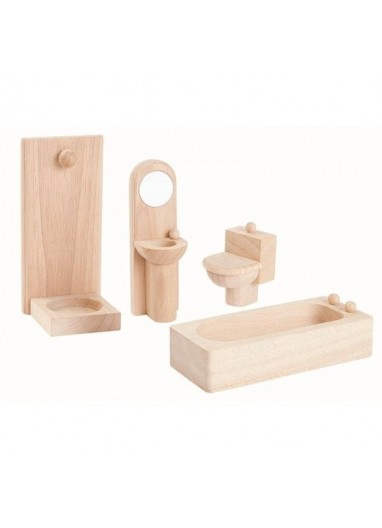 Classic wood bathroom by PlanToys