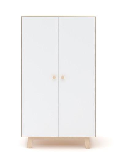 Merlin Wardrobe White/Birch