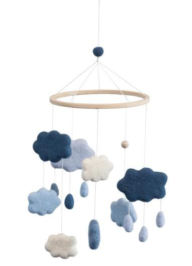 Mobil Nubes de fieltro sebra