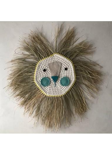 Cabeza León Crochet Giant Turquesa