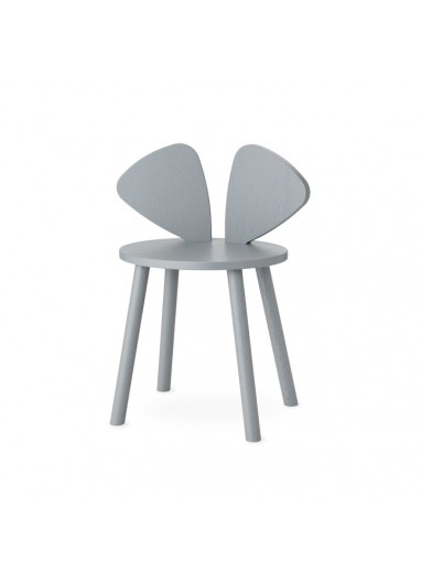 Silla Mouse School Gris Nofred