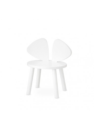 Silla Mouse Blanca Nofred