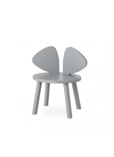 Silla Mouse Gris Nofred
