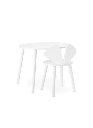 Mouse table school white Nofred