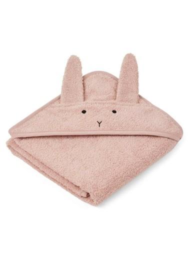 Albert Hooded Towel Rabbit Rose Liewood