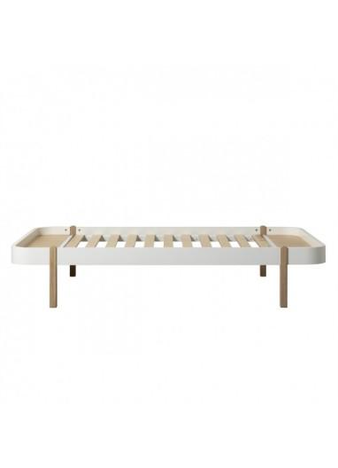Lounger Bed White/Oak Oliver FURNITURE