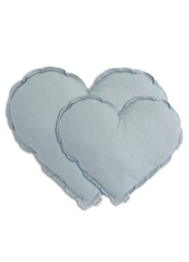 Heart Cushion Sweet Blue Medium Numero 74