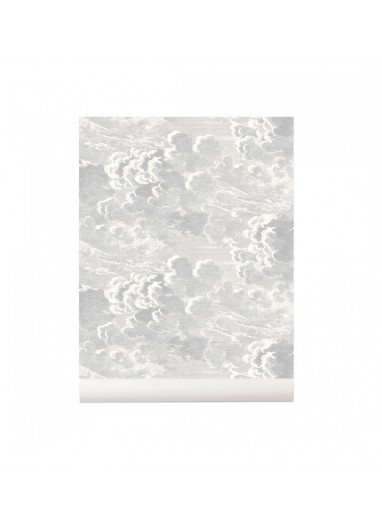 Nuvolette Wallpaper Soft Grey Cole and Son