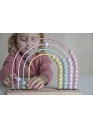 Rainbow Pink Abacus Little Dutch