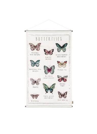 Poster Butterflies School Numero 74
