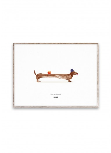 Poster DOUGH THE DACHSHUND by MADO