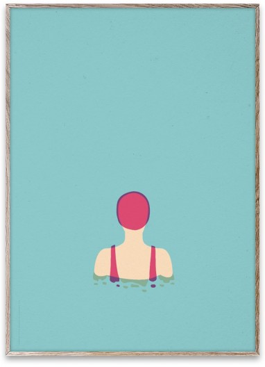 Poster SWIMMER 01 by Note Design Studio
