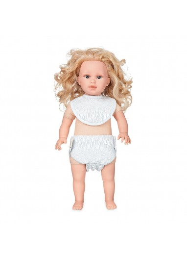 Doll's Clothing Set & Bonnet Grey Wave Cam Cam Copenhagen