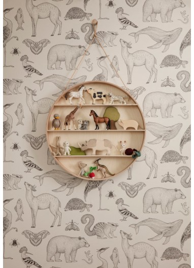 Papel pintado Animals Sand Ferm Living