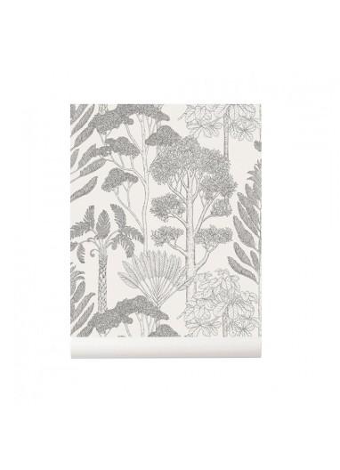 Trees Off White wallpaper Ferm Living