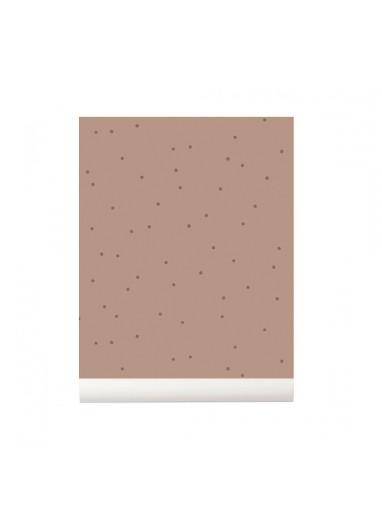 Dot Wallpaper dusty rose wallpaper Ferm Living