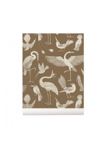 Birds Sugar Kelp  wallpaper Ferm Living