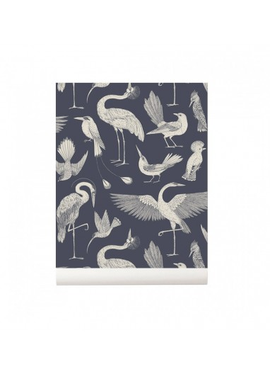 Papel pintado Birds Dark Blue Ferm Living