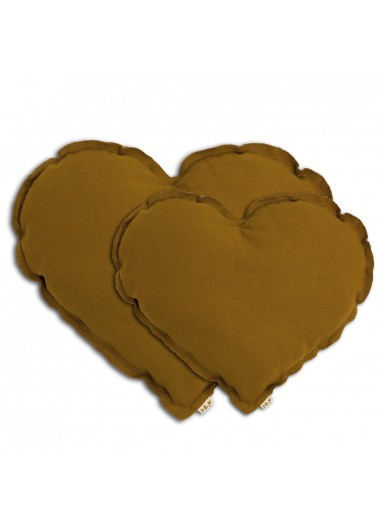 Cojin Corazón Gold Medium Numero 74