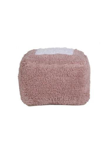 Pouff Marshmallow Square Vintage Nude Lorena Canals