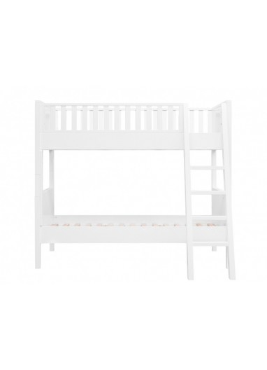 Nordic Bunk Bed Inclined stairs White Bopita