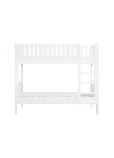 Nordic Loft Bed Vertical stairs White Bopita