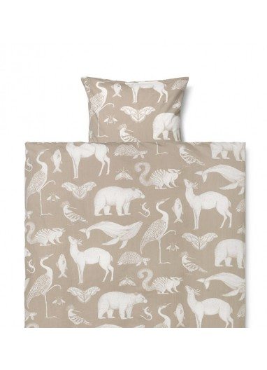 Funda nórdica Adulto Animals Sand Ferm Living