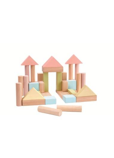 Pastel Wooden Building Blocks Plantoys