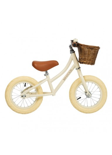Bicicleta sin pedales First Go Cream Banwood