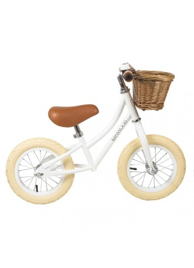 Bicicleta sin pedales First Go Blanca Banwood