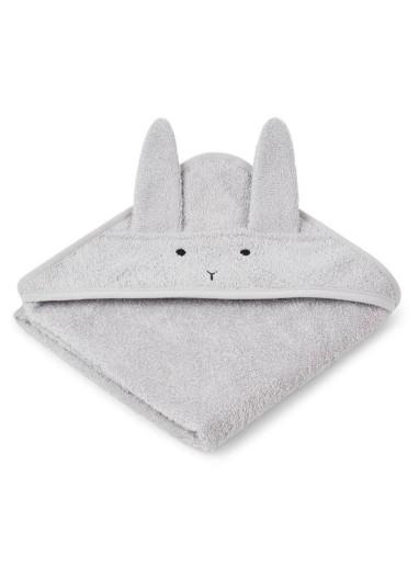 Albert Hooded Towel Rabbit Dumbo Grey Liewood