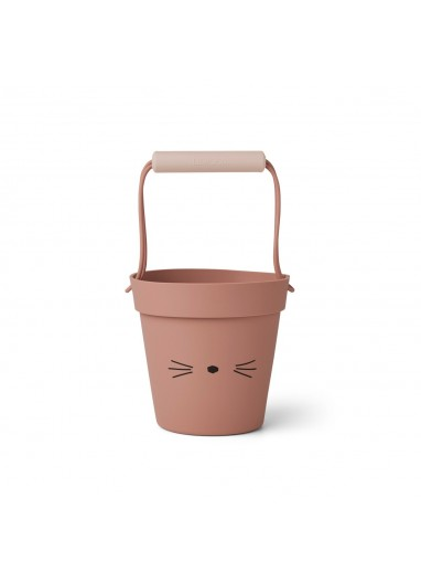 Cubo de playa Linda Cat Dark Rose Liewood