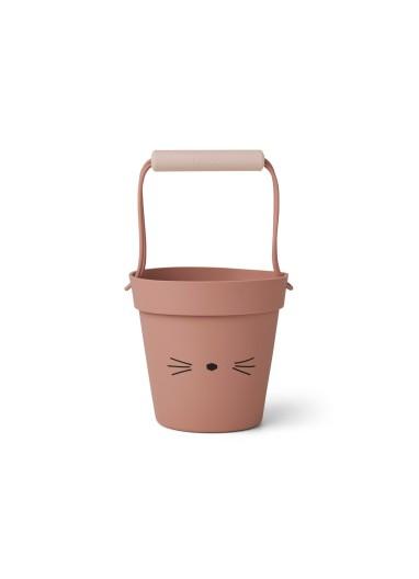Linda beach bucket Cat Dark Rose Liewood