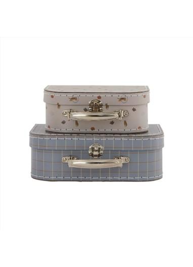 Mini suitcase Tiger & Grid OYOY