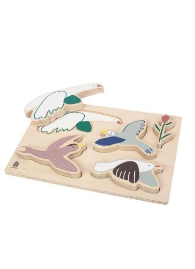 Singing Birds Puzzle Sebra