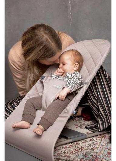 Bouncer Bliss Cotton Sand Grey BabyBjorn