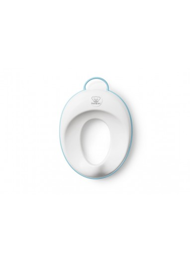 Comfy Toilet Training Seat White/Turquoise BabyBjorn
