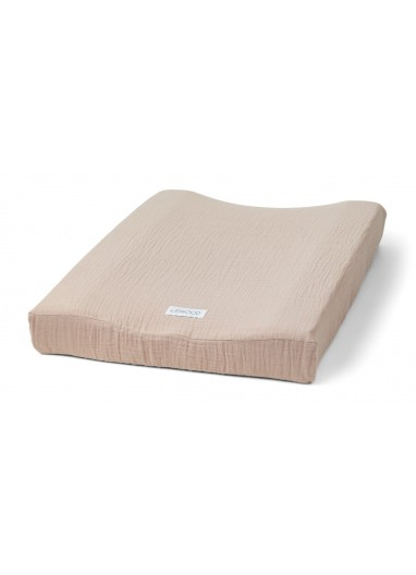 Muslin changing mat cover Rose