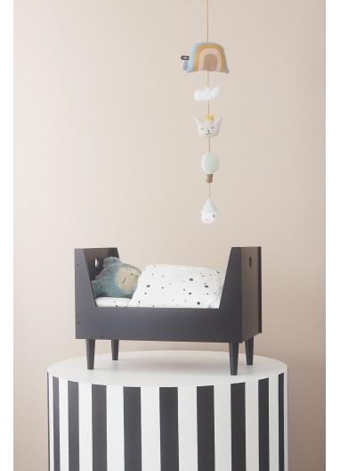 Nordico para cama de muñeca Dot Blanco - negro OYOY
