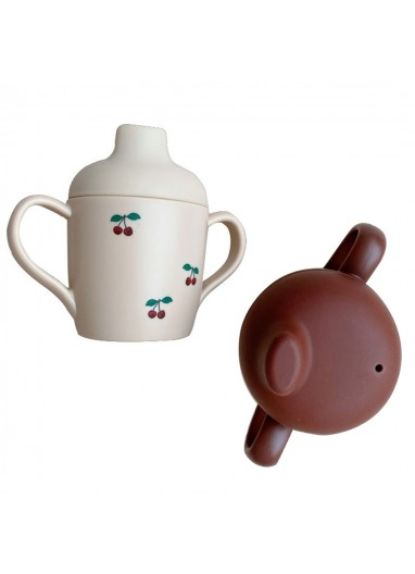 2 Pack Taza sorber burdeaux Cherry Konges Slojd