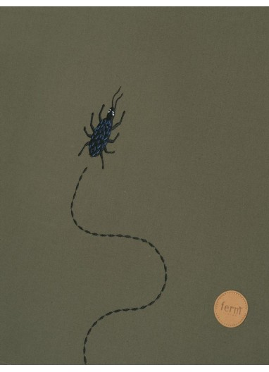 Tent - Beetle Embroidery - Dark Olive Ferm Living