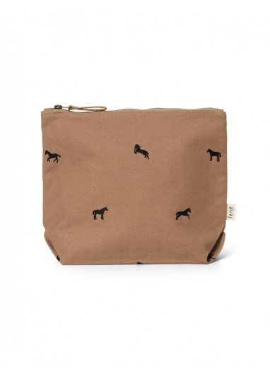 Horse Embroidery Bag - Large - Tan Ferm Living