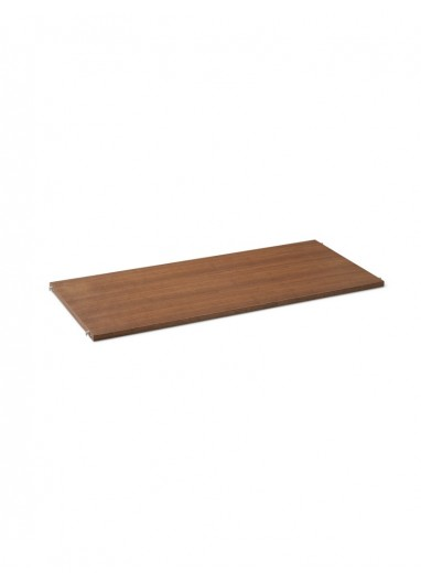 Puntual - estante madera Somoked Oak / L gris Ferm Living