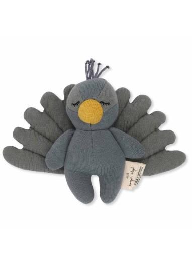 Mini Peacock Rattle Konges Slojd
