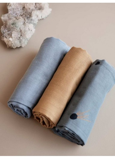 Muslin Squares - Set of 3 - Moon Ferm Living